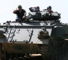 Tank Battle Paintballing Stag Do